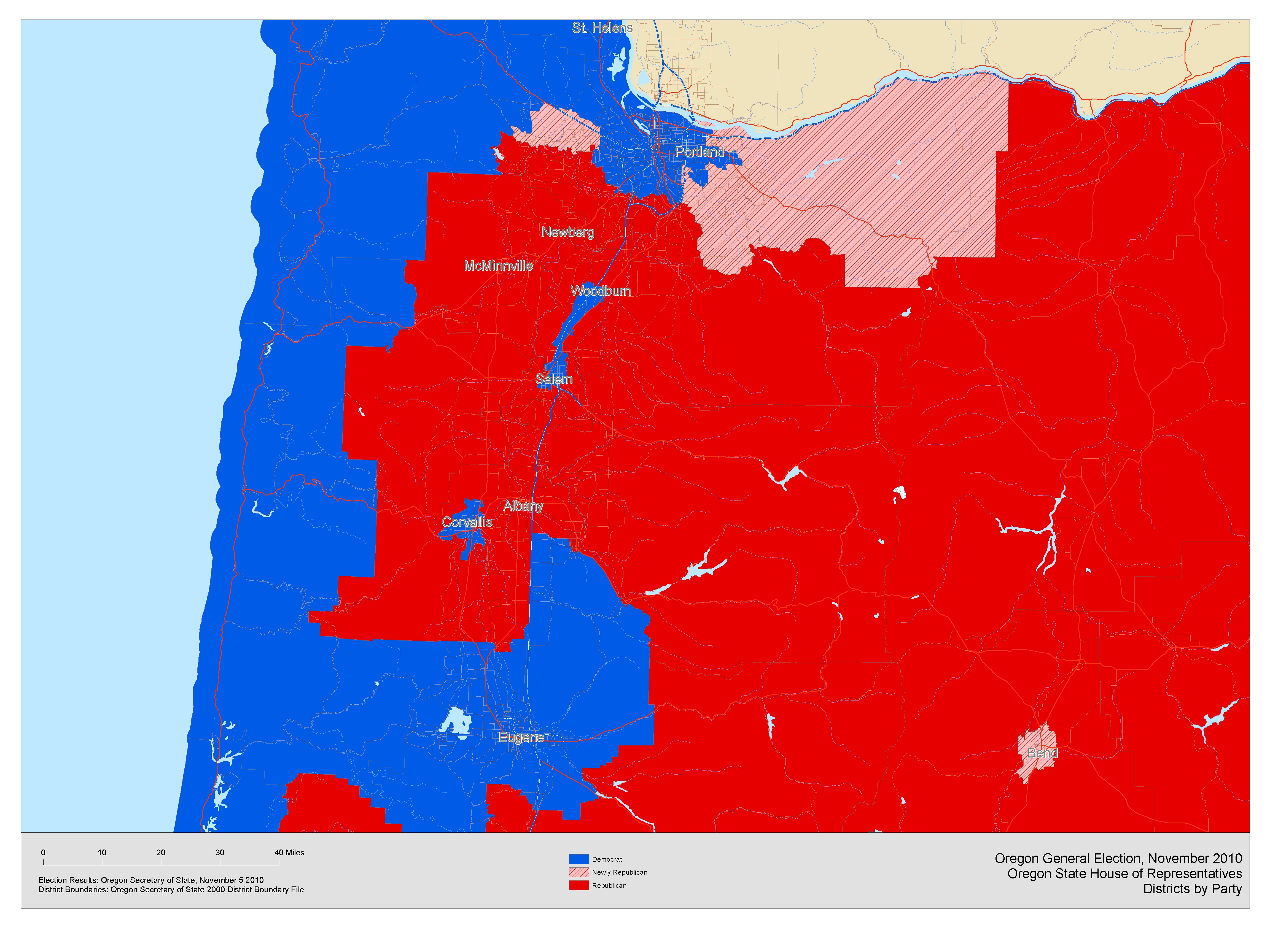 Oregon State Map With Counties.26 Amazing Oregon Political Map By County Bnhspine Com